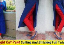 Straight Cut Pant Making Tutorial