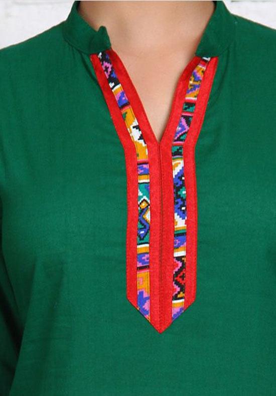13 Fashionable Collar Neck Designs For Kurtis Fashionshala